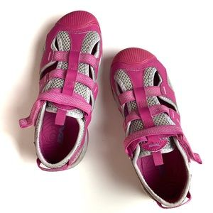 Teva Girl's Closed Toe Pink Velcro Outdoor Shoes